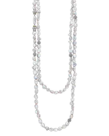 "Lagos Luna Keshi Pearl-Strand Necklace, 70""L"