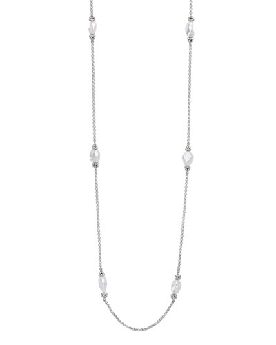 Luna Keshi Pearl 6-Station Necklace, 34
