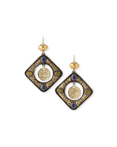 Oversized Coin Dangle Earrings