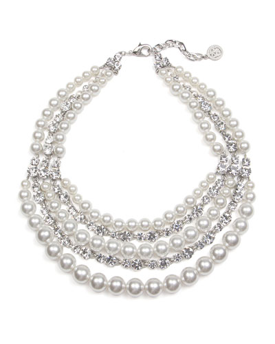 Bubble Pearl Layer Necklace