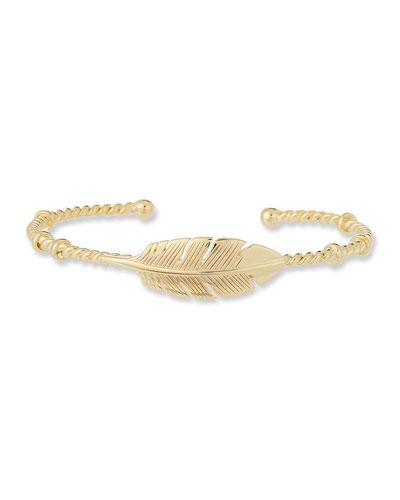 Penna Leaf Bangle Bracelet