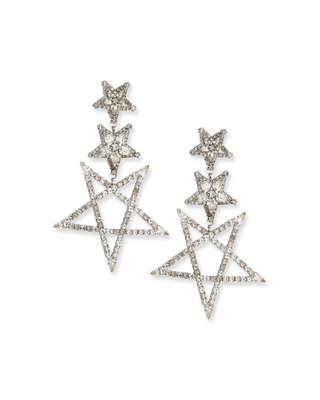 Elizabeth Cole Tate Crystal Star Earrings