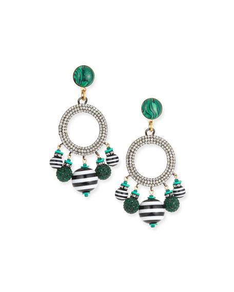 Elizabeth Cole Bain Drop Earrings