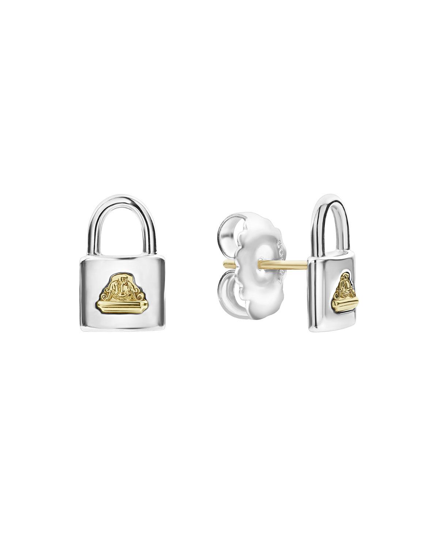 Beloved Lock Stud Earrings