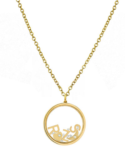 14k Personalized Shaker Pendant Necklace w/ Diamonds