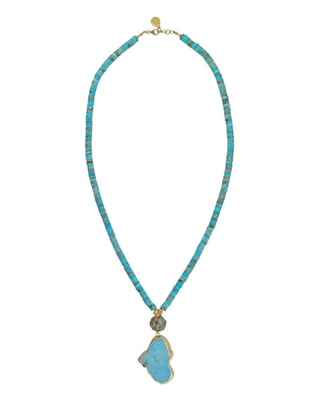 Devon Leigh Jasper & Turquoise Pendant Necklace