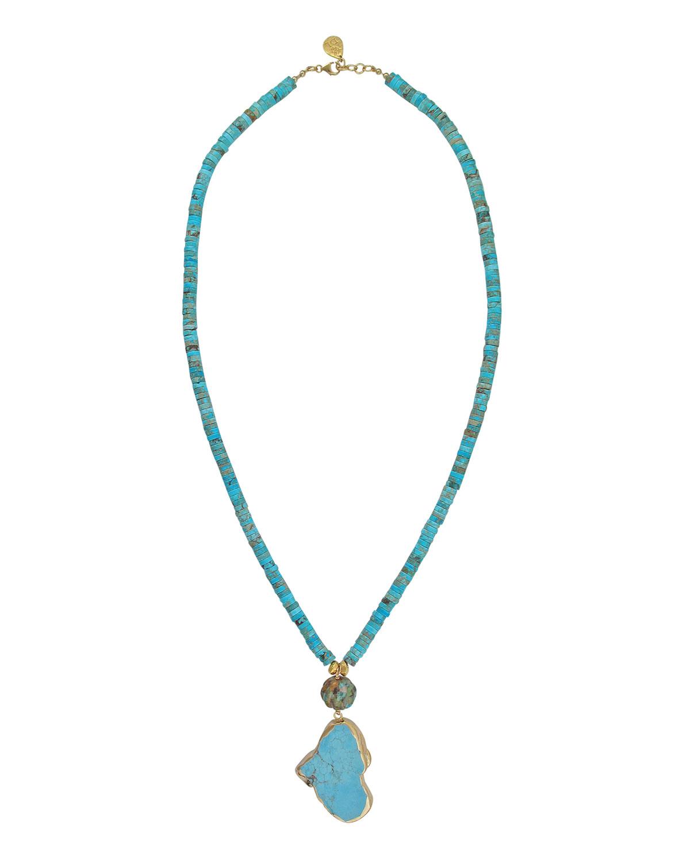 Jasper & Turquoise Pendant Necklace