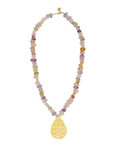 Pastel Filigree Pendant Necklace