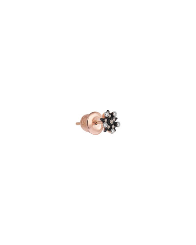 Electric 14k Rose Gold Mixed Diamond Star Earring (Single)