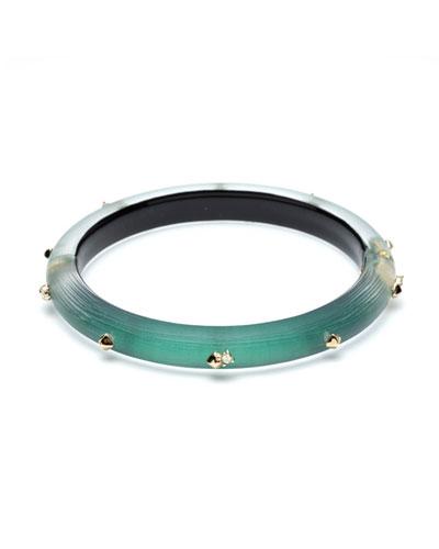 Studded Hinge Bracelet, Green
