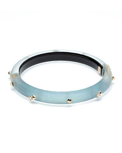 Crystal Encrusted Skinny Hinge Bracelet, Blue
