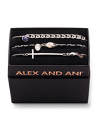 Alex and Ani Tall Cross Bracelet Gift Set