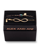 Alex and Ani Infinity Pull-Chain Bracelet Gift Set,