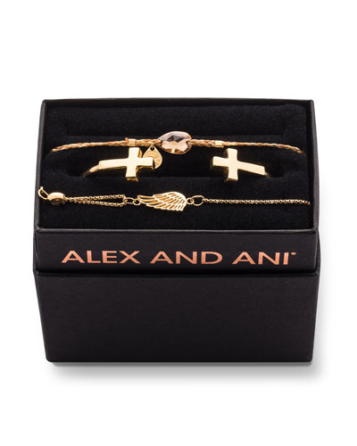 Cross Cuff Bracelet Gift Set