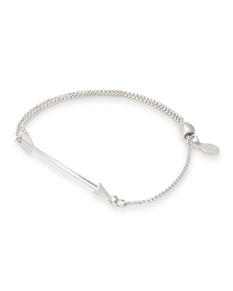 Alex and Ani Arrow Pull-Chain Bracelet, Silver