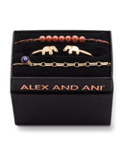 Alex and Ani Elephant Cuff Bracelet Gift Set,