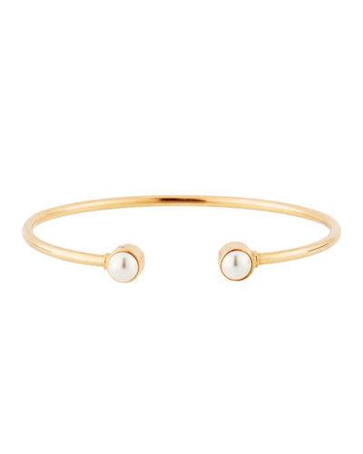 Sea Sultry Pearly Cuff Bracelet, Rose Gold