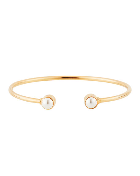 Alex and Ani Sea Sultry Pearly Cuff Bracelet, Rose Gold
