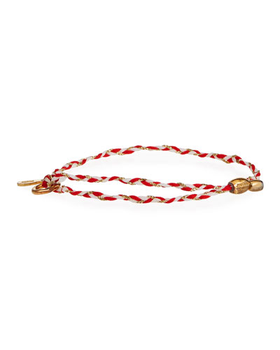 Precious Threads Jasper Braid Bracelet, Red/Gold