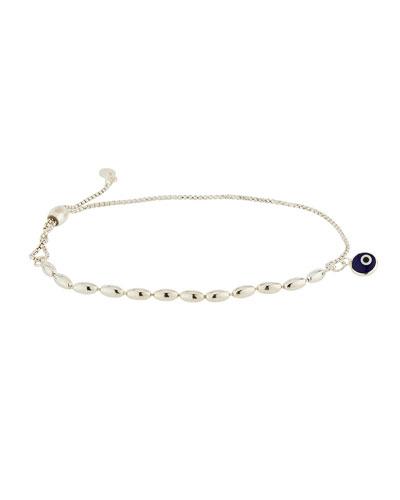 Evil Eye Bead Pull-Chain Bracelet