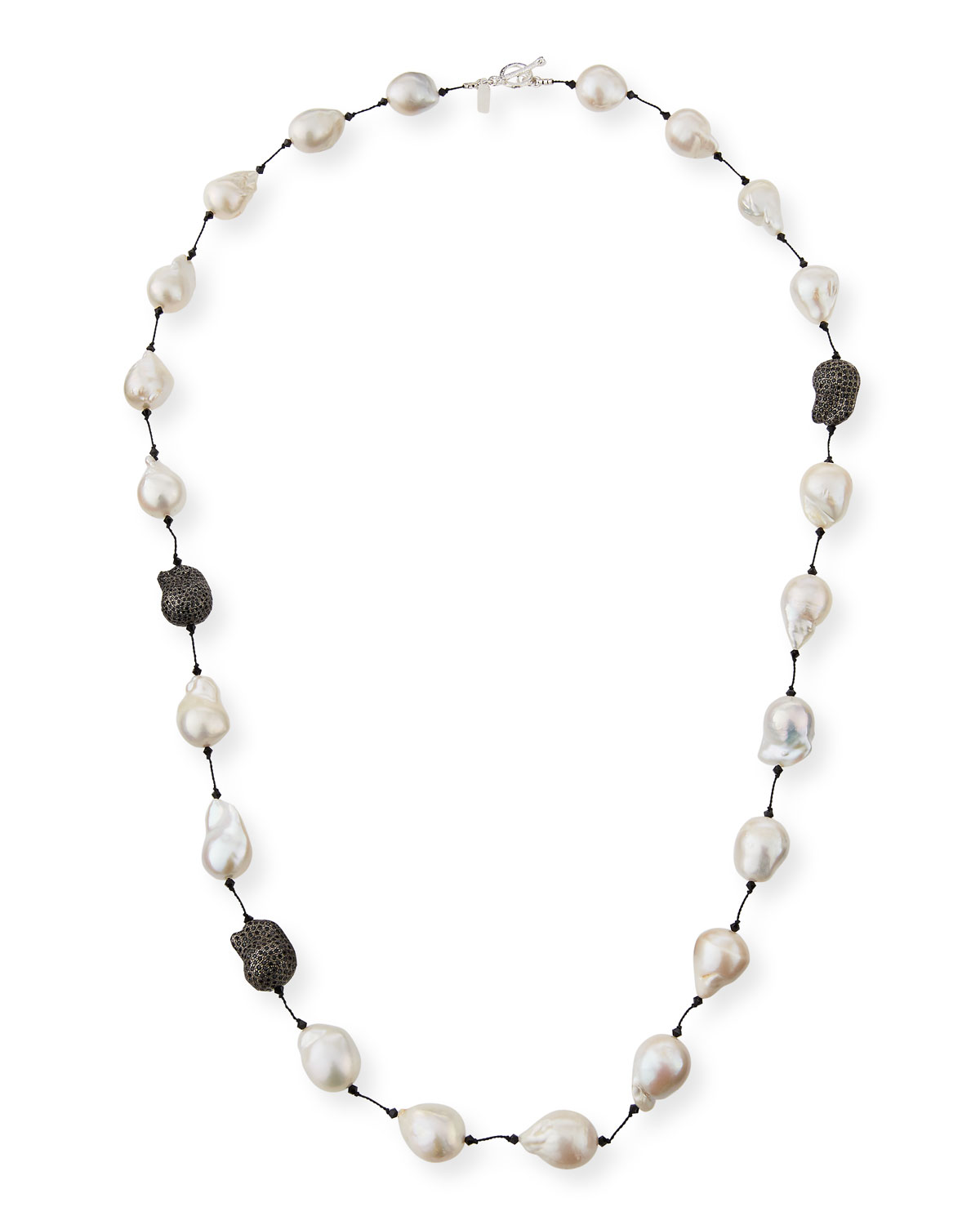 Fifth Avenue Long Pearl & Spinel Necklace