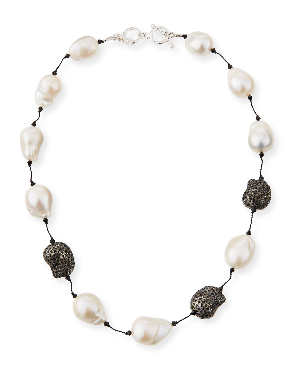 Fifth Avenue Short Pearl & Spinel Necklace