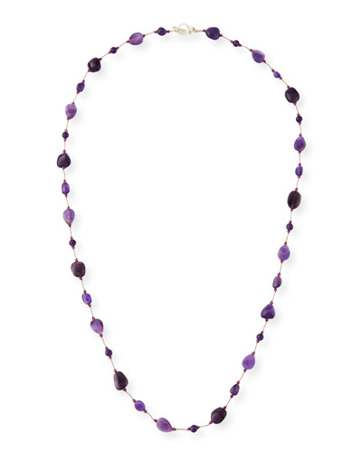 Long Amethyst Combo Necklace, 36
