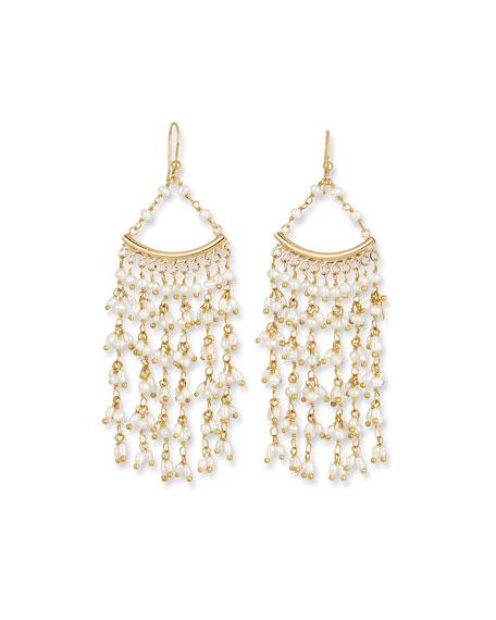 Rosantica Pearl Fringe Drop Earrings