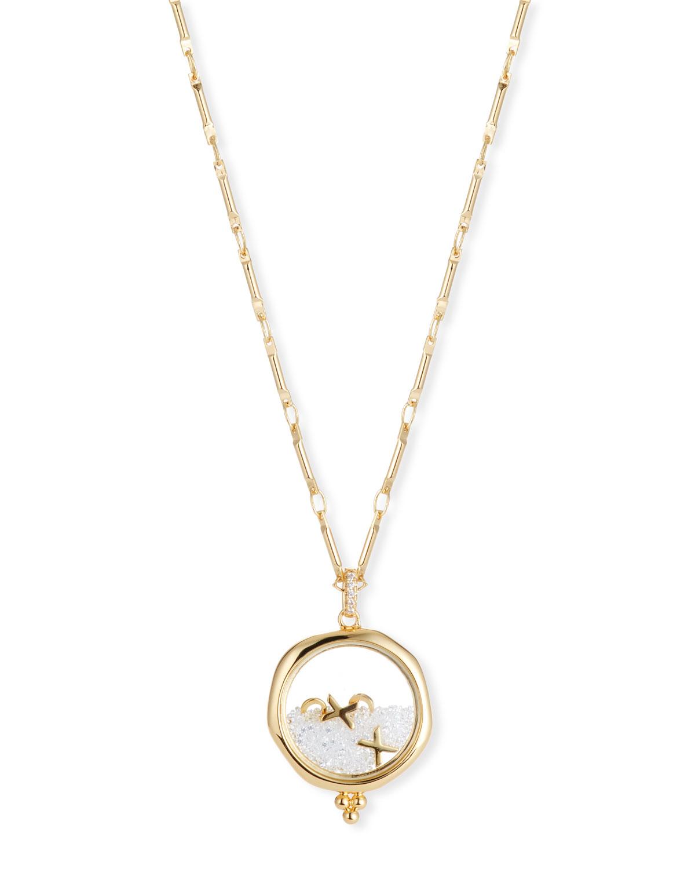 LULU DK Xoxo Shaker Pendant Necklace in Gold
