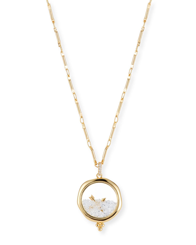 LULU DK Friendship Shaker Pendant Necklace in Gold