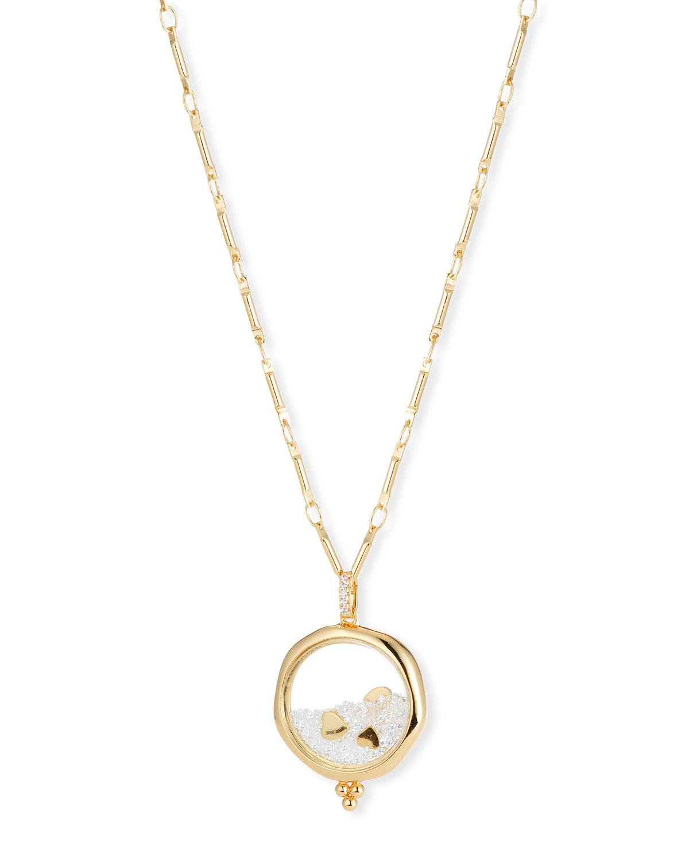 LULU DK Love Shaker Pendant Necklace in Gold