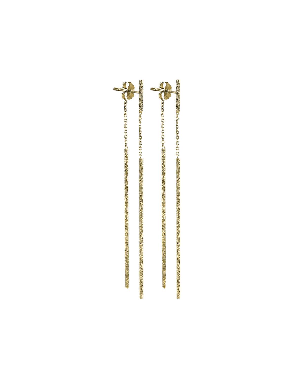 CAROLINA BUCCI Double Magic Wand 18-Karat Gold Earrings
