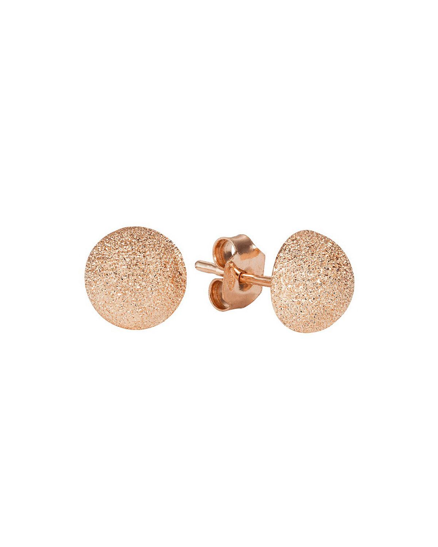 CAROLINA BUCCI 18K Pink Gold Florentine Large Stud Earrings