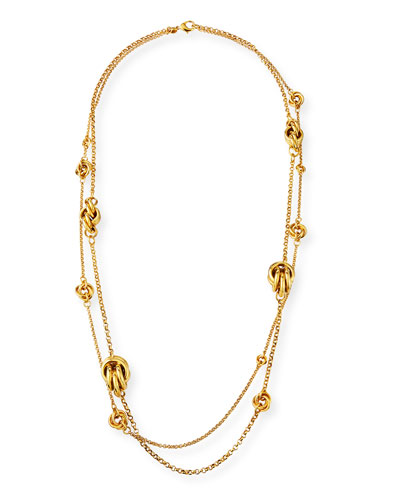Knotted 2-Strand Necklace