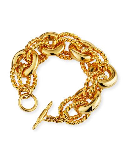 Textured-Link Bracelet