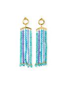 NEST Jewelry Amazonite & Amethyst Tassel Earrings