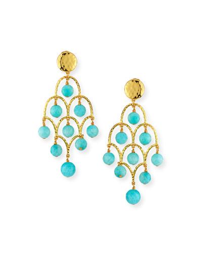 Amazonite Chandelier Earrings