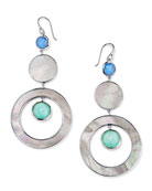 Ippolita Wonderland Stone & Shell 3-Tier Circle Earrings
