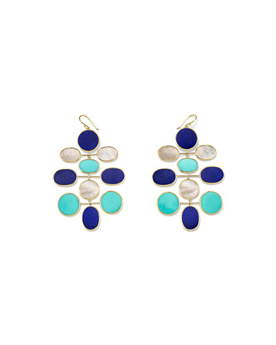 18k Polished Rock Candy Large Mobile Oval Earrings in Viareggio