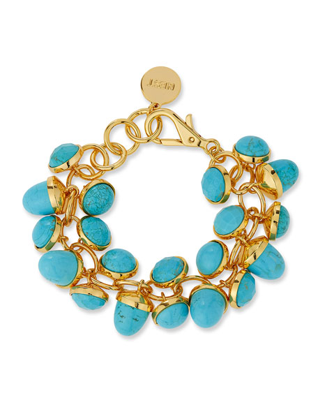 NEST Jewelry Turquoise Charm Bracelet