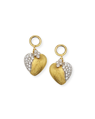 Provence 18k Diamond Heart Earring Charms