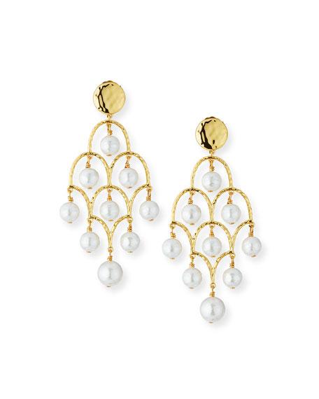 NEST Jewelry Mother-of-Pearl Chandelier Earrings