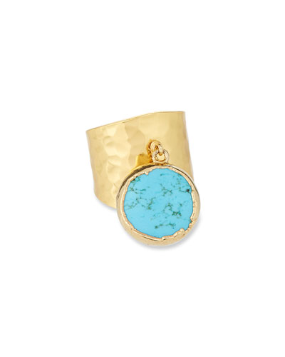 Turquoise Charm Ring