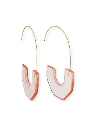 Faina Lucite Hoop Earrings
