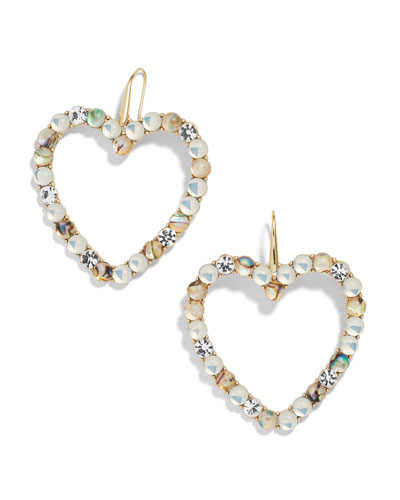 Aerilyn Heart Drop Earrings, White