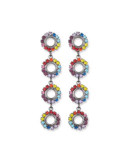 Elizabeth Cole Minka Drop Earrings in Rainbow