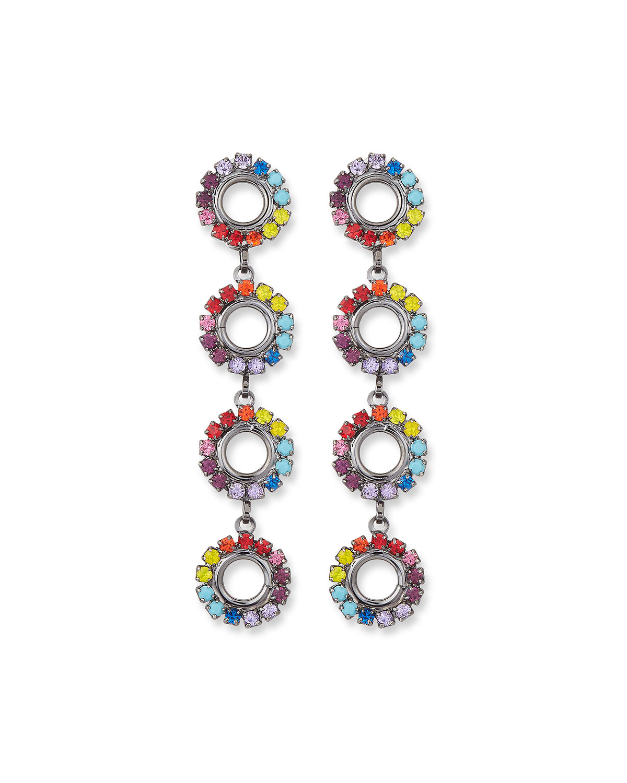 Minka Drop Earrings in Rainbow
