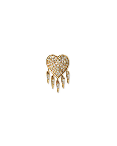 59ba563c3 Quick Look. Sydney Evan · 14k Diamond Heart & Fringe Stud Earring, Single.  Available in Gold