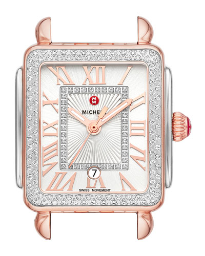 Deco Madison Mid Two-Tone Watch Head, Rose/Steel