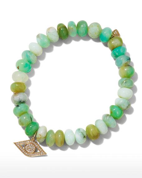 Sydney Evan Anniversary Diamond Evil Eye & Opal Bracelet